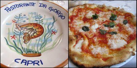 Pizza at Da Giorgio, Capri